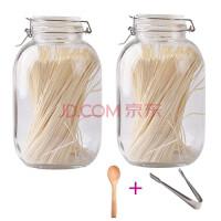 储物罐密封透明瓶燕窝瓶子辅食罐泡菜罐子糖罐玻璃容器器皿密封罐