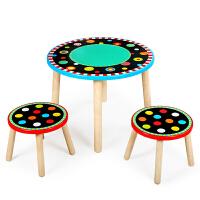 儿童实木小桌子宝宝椅子学习吃饭手工写字游戏幼儿园小学生玩具桌
