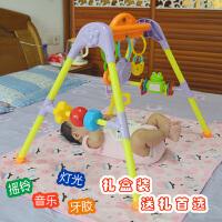 新生儿婴儿宝宝床上摇铃0-3-个月床铃音乐健身架早教玩具 小蜜蜂音乐健身架(有音乐)
