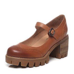Teenmix/天美意2017春季专柜同款牛皮女单鞋6E803AQ7