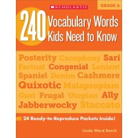 240 Vocabulary Words Kids Need to Know, Grade 6 英文原版 六年级孩子需