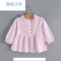 童装女童打底衫公主春装1-3岁2儿童春秋0婴儿白色上衣纯棉宝宝T恤