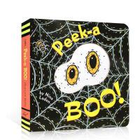 进口英文原版绘本 Peek a Boo! who 一起躲猫猫 猜猜我是谁同系列 宝宝英语入门启蒙洞洞纸板书 0-1-2