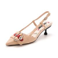 【秒杀价:169元】星期六(ST&SAT)女鞋 春季羊皮革金属扣时尚中后空单鞋SS91114051
