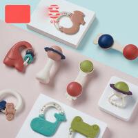 宝宝牙胶0-3-6-12个月手摇铃玩具0-1岁