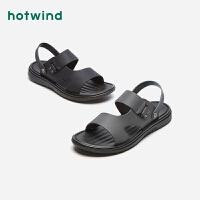 热风夏季潮流时尚男士凉鞋青年平底休闲沙滩鞋H64M9217