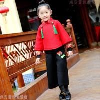 宝宝新年唐装冬过年喜庆中国风衣服女童儿童唐装男童套装周岁礼服