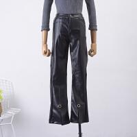 【C1】FSLL07秋冬季新高腰纯色双口袋休闲裤Z