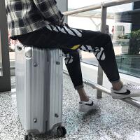 权志龙同款裤子韩版潮流牛仔裤男个性修身小脚学生青少年S码条纹