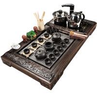 紫砂茶具套装家用陶瓷茶壶茶杯电热磁炉茶台实木茶盘
