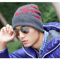 帽子毛线帽秋冬时尚 男士帽子冬季韩版潮 户外羊毛针织帽男