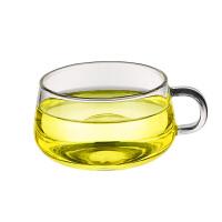 玻璃圆趣杯 水杯生产耐热玻璃茶杯 玻璃把杯咖啡杯200ML早餐麦片牛奶咖啡啤酒果汁杯