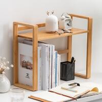 桌面书架飘窗小书架办公桌收纳整理置物架实木简易桌上书架简约架