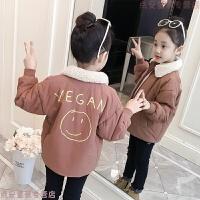 女童冬�b外套�n版2018新款�和�棉衣5-6-7�q女孩棉�\加厚洋�獬绷�