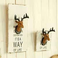 复古鹿头墙面装饰品服装店铺男装室内墙壁挂饰墙上小挂件