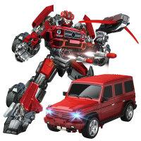 遥控变形玩具金刚遥控车机器人儿童玩具
