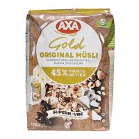 瑞典AXA45%坚果水果什锦混合麦片进口早餐营养麦片750g