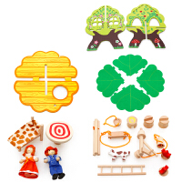 儿童木制DIY别墅树房子拆拼装组合模型早教智力过家家玩具