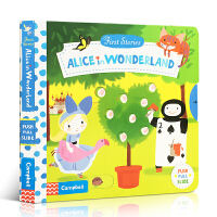 英文原版 First Stories系列 Alice in Wonderland 爱丽丝梦游仙境 经典童话系列纸板操作
