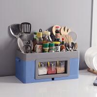 多功能厨房用品调味料置物架调料架落地刀筷具收纳储物盒创意套装