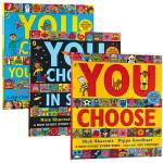 超凡想象益智大书 英文原版绘本 You Choose/In Space/Your Dreams 3册 Nick Sha
