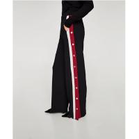 秋装新款女装休闲两侧带饰睡衣风格裤7803/778