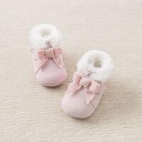 加绒戴维贝拉秋冬宝宝软底步前鞋 婴幼儿靴子DB8798