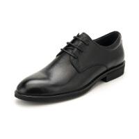 【一口价:264元】星期六男鞋(ST&SAT)19年专柜同款头层牛皮革轻便透气商务正装皮鞋上班鞋男SS91125570 黑色