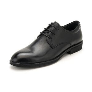 星期六男鞋(ST&SAT)19年专柜同款头层牛皮革轻便透气商务正装皮鞋上班鞋男SS91125570 黑色