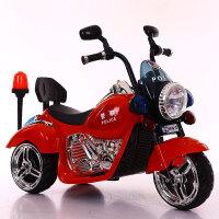 儿童电动摩托车三轮车可坐人男女孩可充电小孩遥控车小宝宝玩具车K10 红色・单电机・小电瓶・硬座 塑料轮