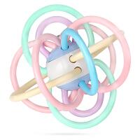 婴儿3-6个月手抓球宝宝智力牙胶幼儿摇铃可水煮玩具