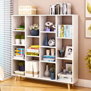 亿家达书架落地创意书柜书架简约现代简易置物架经济型客厅省空间小书架