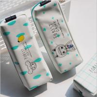�i壹坊TR-AA28921么么森林2大方形笔袋4款图案颜色随机创意文具笔盒文具袋韩式风格大中小学生幼儿园男女孩办公开学