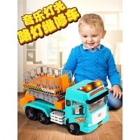 2-6岁宝宝男孩子音乐故事惯性工程车路灯维修车儿童玩具车