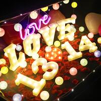 感恩节礼物送女友惊喜求婚装饰灯道具浪漫氛围布置创意表白纪念日生日礼物数字母灯线球彩灯SN1445