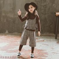冬季女童秋装套装2018新款韩版潮衣女宝宝衣服秋季儿童时髦洋气三件套秋冬新款