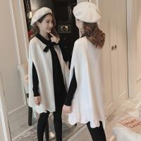 斗篷外套毛衣裙两件套孕妇秋冬装套装时尚款2018新款中长款连衣裙