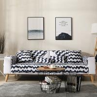 北欧沙发垫纯棉布艺四季通用客厅防滑简约现代沙发套巾