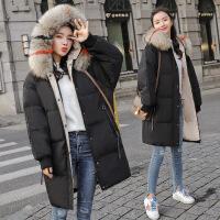 羽绒服女中长款2018新款时尚白鸭绒冬韩版加厚过膝显瘦潮