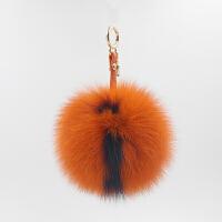 狐狸毛字母毛球 包包挂件 超大毛球球挂饰 毛绒钥匙坠饰