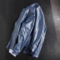 尾货单 男式春装薄款PU皮夹克仿皮皮衣机车皮衣水洗短款外套简约