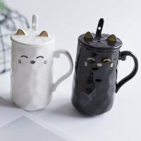 【包邮】创意可爱猫咪牛奶咖啡水杯情侣礼物陶瓷马克杯