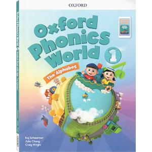 oxford phonics world 1 The Alphabet 牛津自然拼读法 英文原版 Level 1级 自然拼读英语教材 学生用书 附2CD 牛津自然拼读世界 幼少儿英语