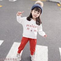 冬季女宝宝洋气套装秋装1一3岁0婴儿童加绒两件套冬装女童小童韩版潮2秋冬新款
