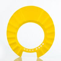 小孩婴儿宝宝洗头帽神器可调节防水儿童浴帽护耳洗澡帽洗发帽幼儿 黄色 eva材质 可调节