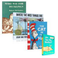 欧美宝宝需读绘本4本套装 适合3岁小孩 进口英文原版读物 送音频