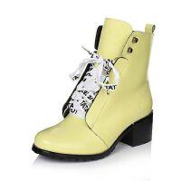 Tata/他她冬季专柜同款牛皮女皮靴FTU40DD6