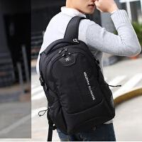 男士商务电脑包旅行大容量 瑞士军刀双肩包 背包休闲潮学生书包时尚潮流防盗背包