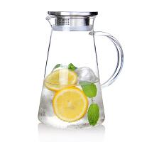 家用冷水壶玻璃壶耐热高温晾凉水杯白开水杯果汁扎壶防爆大容量透明凉水壶水瓶