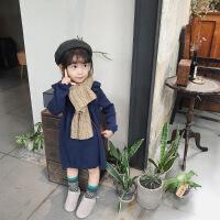 2018初冬新款儿童连衣裙女童韩版针织长裙公主裙可爱